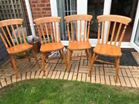 4x pine chairs (ideal project)