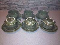 1970's vintage soup bowl and saucer set