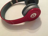 Beats Solo HD Special Edition Red Headphones with box (rarely used)
