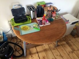 Beautiful Drop Leaf Oiled Table | G Plan Ercol 50's 60's
