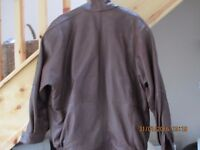 Ladies Tan Leather Jacket