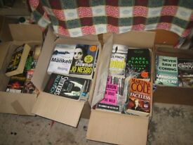Fiction books. 120 books by Ian Rankin,Jo nesbo,Ann Cleeves,Peter Robinson etc. Ideal for boot sales