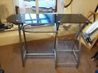 Black glass free-standing breakfast bar for sale (Bury, Manchester)