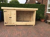 DOG KENNEL AND RUN .