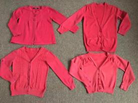 4 x red uniforms cardigans Age 5-6 yeras