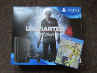 PS4 Slim Uncharted 4 + Fifa 17