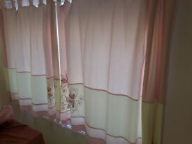 Girls Next Butterfly Button Bedroom Curtains
