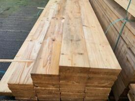 Untreated white wood scaffold boards