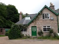 A two bedroom two storey semi-detached house part of a collection of tradition granite buildings.