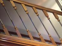 Brand new stair railings