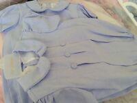 Pretty Originals 18/24 month X 2. Suitable for twins blue romper and sailor hat