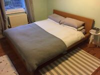 Ikea Malm king size bed frame and Ikea mattress - Great price