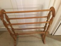 Pine towel/clothes rack immaculate condition vintage