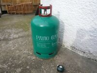 13 kg Patio Gas Bottle with regulator and fill gauge