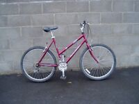 """Raleigh,Ladies,Mountain, Bike,21.5""""Frame,26"""" Alloy Wheels,21 Gears, FULLY SERVICED."""