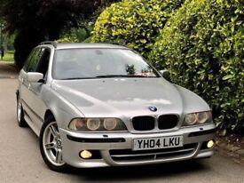 **LOW MILES+2004** BMW 530i SPORT TOURING AUTO+ FULL SERVICE HISTORY + 1YR MOT + 3KEYS + VCLEAN CAR!