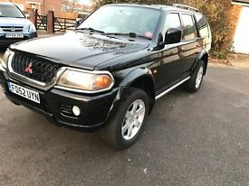 Mitsubishi shogun sport great example long mot £1899
