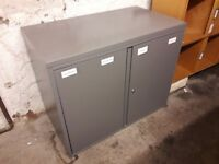 Grey office cabinet