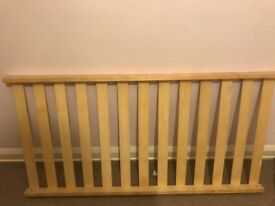 Cotbed with Cema mattress and matching changing table