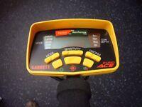 metal detector detecting garrett euro ace