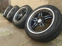 TODAYS PRICE ONLY BMW DEEPDISH CHROME ALLOYS AND TYRES