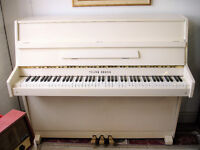 Modern White Upright Piano