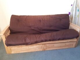 Quality double futon/settee bed