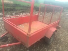 Great wee trailer would do for a gardener or moving things or for a farmer