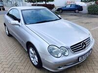 Mercedes CLK 200 KOMP, AVANTGARDE,AUTO,2004,1.8ltr,43k MILES,PETROL,F.S.Hstry,LEATHER,1 YR MOT