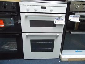 NEW GRADED INDESIT WHITE INTEGRATED DOUBLE OVEN REF: 13289