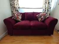 2 x 2 seater chenille sofas