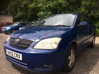 2002 Toyota Corolla 1.4 T3 mot until Nov cheap reliable runabout