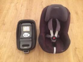 Maxi Cozi Pearl Car Seat and ISO FIX Base