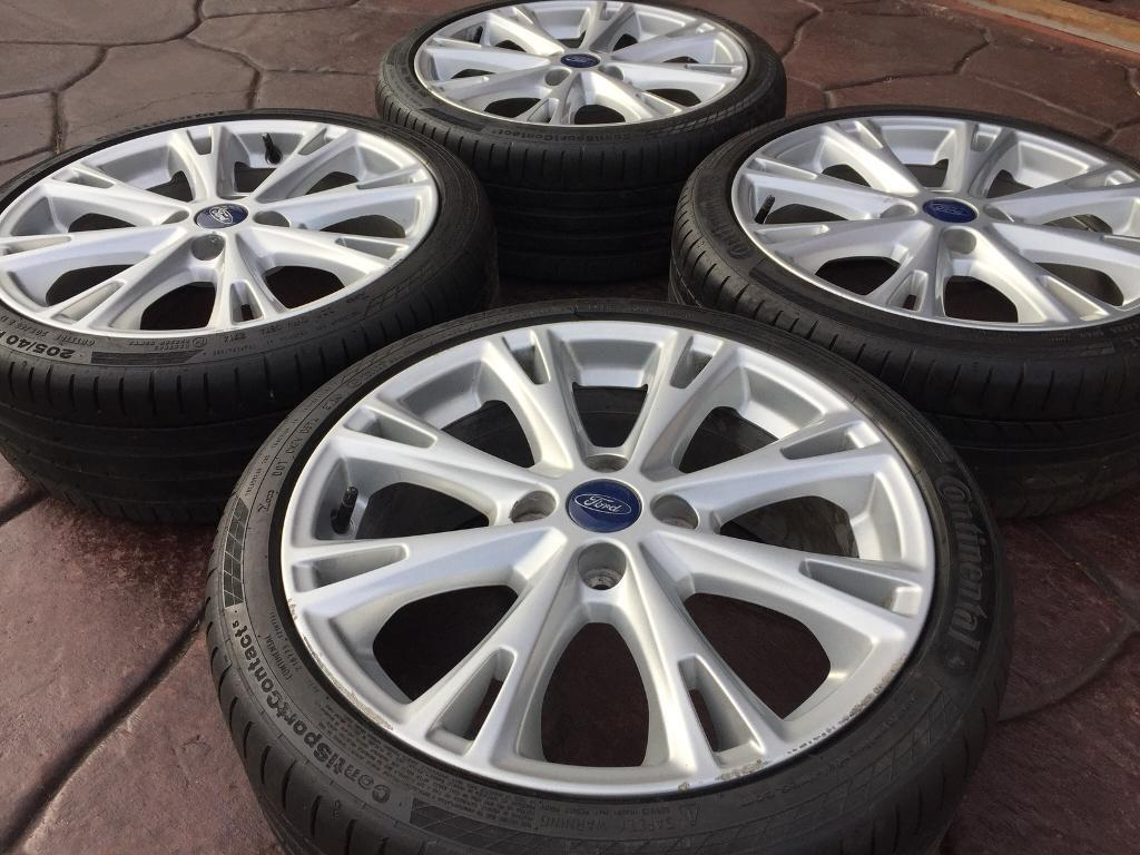 """Genuine 17"""" Ford Fiesta Zetec S Facelift ST RS Alloy wheel & Continental tyre - 6-7mm"""
