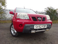 52 NISSAN X-TRAIL SPORT 2.0 4X4,MOT MAY 018,2 OWNER,2 KEYS,PART-HISTORY,VERY RELIABLE,LOVELY EXAMPLE
