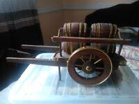 Ornamental wooden cart