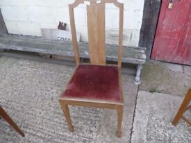 Straight Backed Single dining Chair Shabby Chic Project Delivery Available