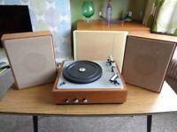 VEB Stern Radio,Vintage East German Record Player & Speakers