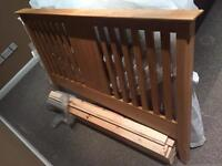 Double bed frame - solid oak (brand new!)