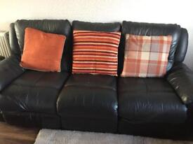 3 & 2 Seat Leather Reclining Sofas