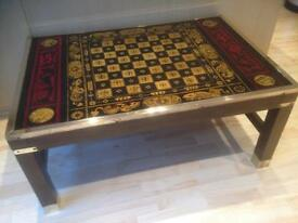 Coffee table with chess board