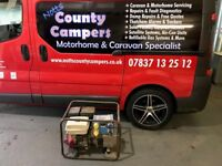 Stephill Generator 5.0KVA 17amp Twin 230v and 110v outlets Petrol.