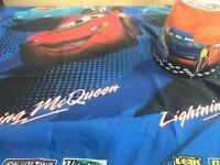 Cars single duvet cover and pillow case/ light shade