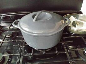 Very large cast iron pan