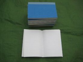 10 Brand New Hard Back Notebooks of 96 Lined pages - 15 cm by 10 cm: 5 for £4.00