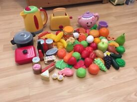 Plastic toy food