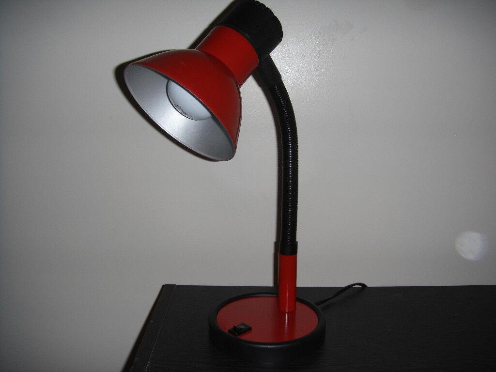Red And Black Desktable Lamp In Falkirk Gumtree