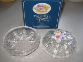 Vintage cut glass Trinket Box