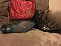 Handmade 100% Italian leather Jo Ghost boots