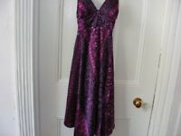 Purple Patterned Summer Dress New With Tags Size 6.
